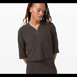 NWOT lululemon Lab Sarala Shirt in Black Granite